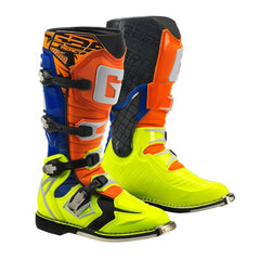 2018 Gaerne G React Motocross Boots - Orange / Blue / Yellow