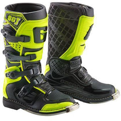 2018 Gaerne SGJ Kids Motocross Boots - Black / Yellow Fluo