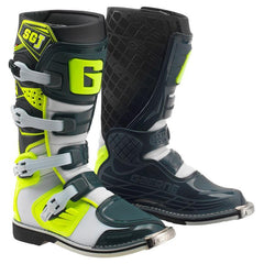 2018 Gaerne SGJ Kids Motocross Boots - White / Yellow / Grey