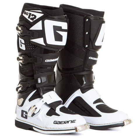 Gaerne Motocross Boots 7 (42) Gaerne SG12 Motocross Boots - Black White Limited Edition
