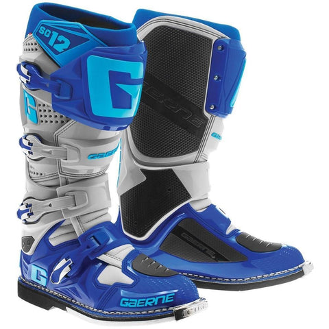 Gaerne Motocross Boots 7 (42) Gaerne SG12 Motocross Boots - Cyan Blue Grey