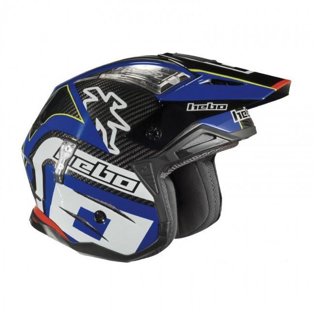 Hebo Trials Helmets Hebo Helmet Zone 4 Carbon Fibre Small - Blue