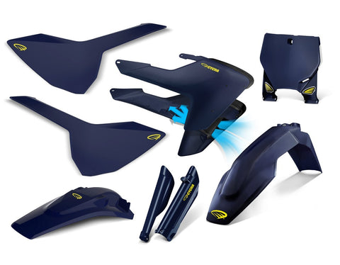 Husqvarna Complete Plastics Kits TC125/250 17-18 Cycra Power Flow Full Plastics Kit Husqvarna TC/FC/FX  125/250/450 2016-2018 - Husky Blue