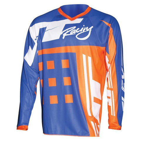 JT Racing Motocross Jerseys 2018 JT Racing Flex Exbox MX Motocross Jersey - Blue / Fluo Orange
