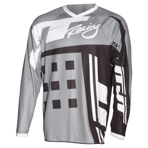 JT Racing Motocross Jerseys 2018 JT Racing Flex Exbox MX Motocross Jersey - Grey / Black