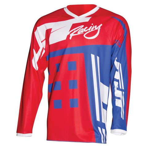 JT Racing Motocross Jerseys 2018 JT Racing Flex Exbox MX Motocross Jersey - Red / Blue / White