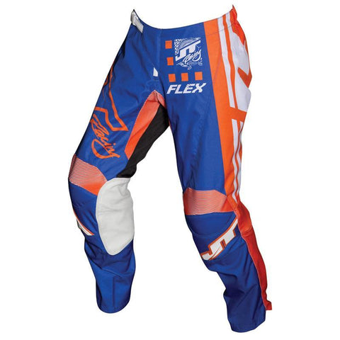 JT Racing Motocross Pants 2018 JT Racing Flex Exbox MX Motocross Pants - Blue / Fluo Orange