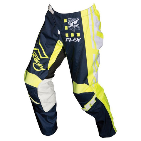 JT Racing Motocross Pants 2018 JT Racing Flex Exbox MX Motocross Pants - Navy / Neon Yellow