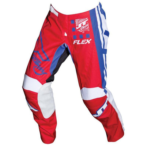 JT Racing Motocross Pants 2018 JT Racing Flex Exbox MX Motocross Pants - Red / Blue / White