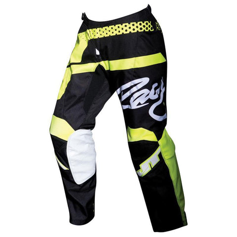 JT Racing Motocross Pants 2018 JT Racing Flex Hi-Lo MX Motocross Pants - Black / Neon Yellow