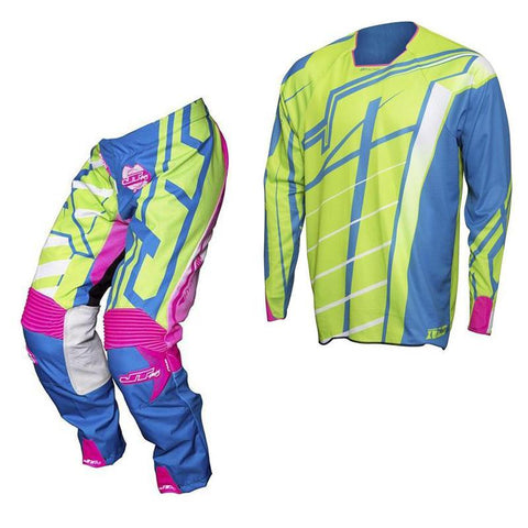 "Kit Combo Clearance Medium / 30"" 2017 JT Racing Hyperlite Breaker MX Motocross Kit Combo - Green / Cyan / Pink M"