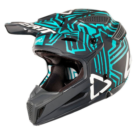 Leatt Motocross Helmets 2018 Leatt GPX 5.5 V11 Helmet - Grey / Teal