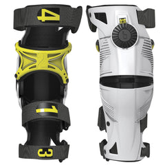 Mobius Youth X8 Knee Brace - White/Acid Yellow