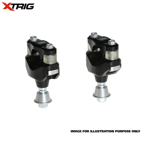 Motocross Bar Mounts Xtrig Bar Mount Kit (OEM PHDS Rubber) KTM/Husqvarna 16>On Size 28.4mm Bar Diameter