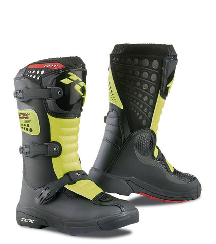 Motocross Boots 2018 TCX Comp Youth Motocross Boots - Flou Yellow Black