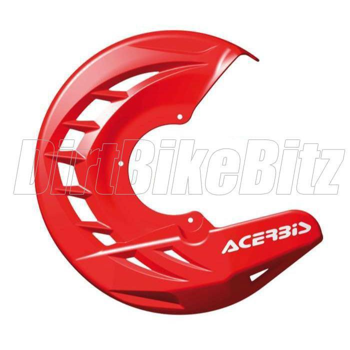 Motocross Brake Disc Guards Acerbis X Brake Front Disk Protector - Red
