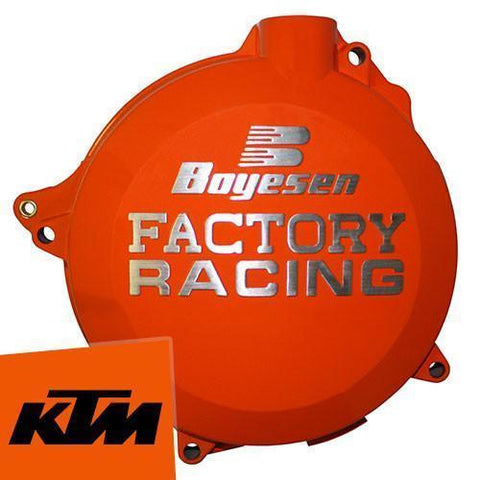 Motocross Clutch & Ignition Covers Default Title Boyesen KTM Clutch Cover - Orange - KTM SX250 2T 09-14