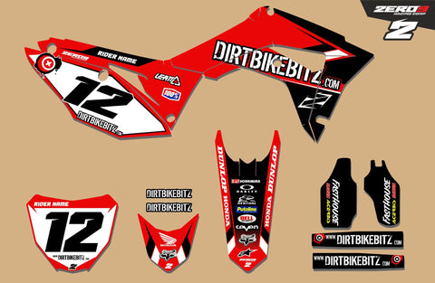 Motocross Custom Graphics CR125 02-03 Dirtbikebitz Factory Honda 2018 Race Team Graphics Kit - Honda
