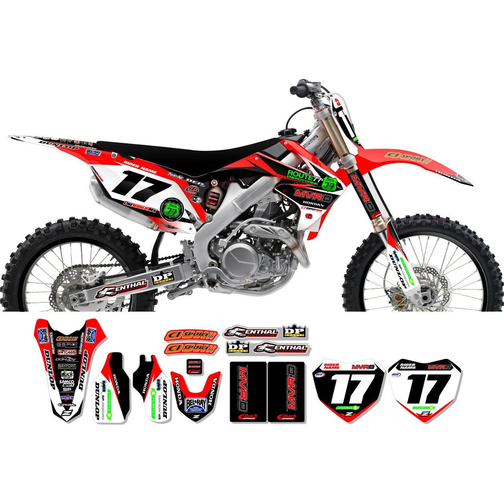 Motocross Custom Graphics CRF450 05-12 Honda Race Team Graphics Kit - MVRD 12