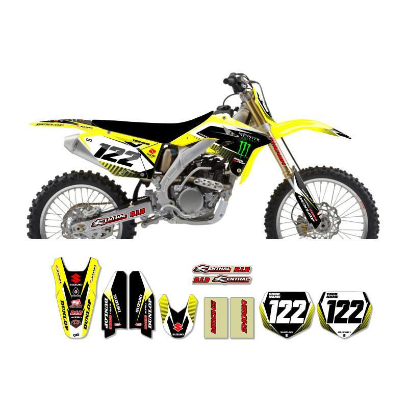 Motocross Custom Graphics Default Title RM125/250 03-> Monster Energy Graphics - Yellow/Black