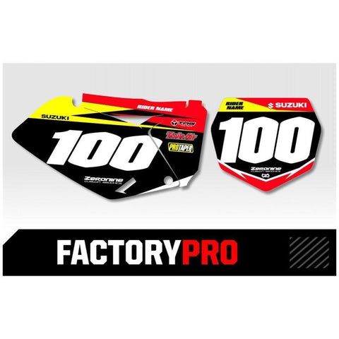 Motocross Custom Graphics Suzuki Factory Pro Series Backgrounds Red Yellow