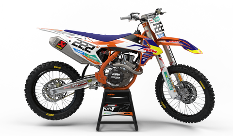 Motocross Custom Graphics SX 50 02-08 2018 KTM Factory Race Team 15 Graphics Kit