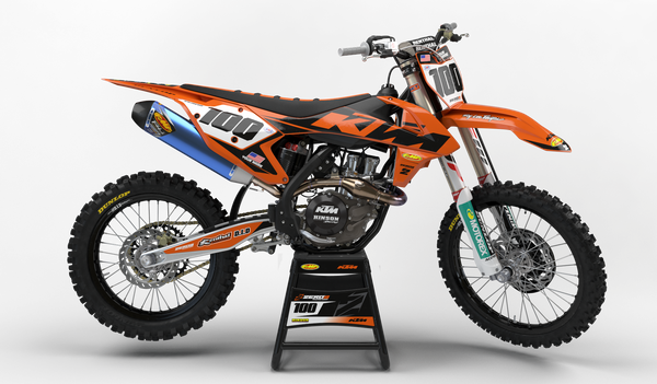 Motocross Custom Graphics SX 50 02-08 2018 KTM Factory Retro Race Team Graphics Kit