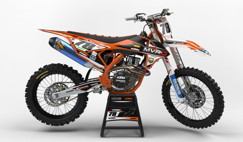Motocross Custom Graphics SX 50 02-08 2018 KTM MVRD Factory Race Team Graphics Kit