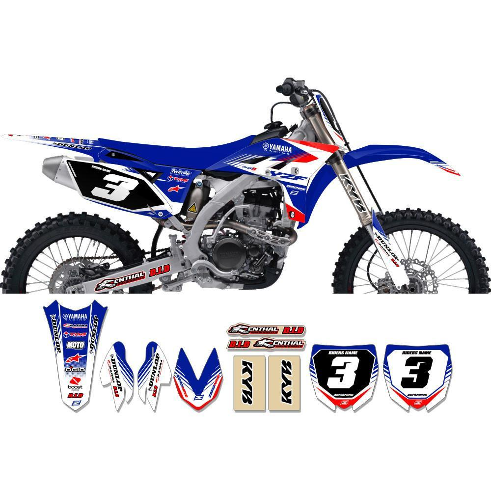 Motocross Custom Graphics Yamaha YZ85 02-> Targa2 Series Complete Graphics Kit - Blue Red