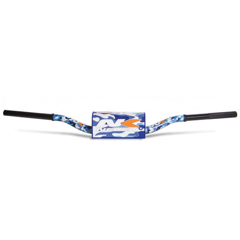 Motocross Handlebars Neken Oversized Fat Bar Handlebars - Blue Camo Inc Bar Pad - 85cc Low