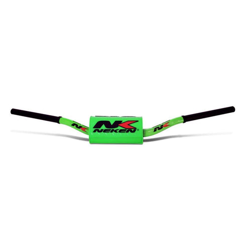 Motocross Handlebars Neken Oversized Fat Bar Handlebars - Flou Green with Green Bar Pad - YZF OEM