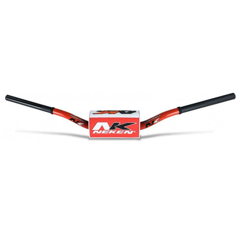 Motocross Handlebars Neken Oversized Fat Bar Handlebars - Red White Inc Bar Pad - 85cc