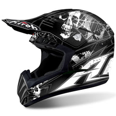 2017 Airoh Switch Motocross Helmet - Scary Black Matte  X-Large