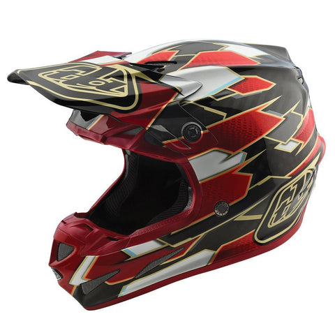 Motocross Helmets S - 54-56cm 2018 Troy Lee SE4 Maze Carbon MX Motocross Helmet - Red Black