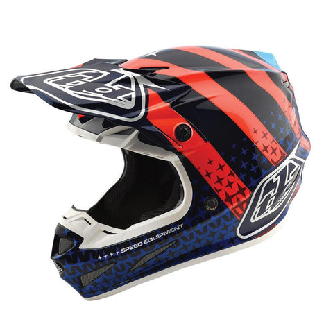 Motocross Helmets S - 54-56cm 2018 Troy Lee SE4 Streamline Carbon MX Motocross Helmet - Navy Orange
