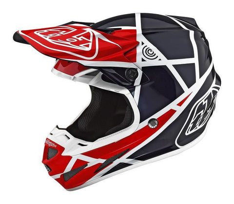 Motocross Helmets XS - 53-54cm 2018 Troy Lee Designs SE4 Composite Helmet 2018.1 Metric Red/Navy