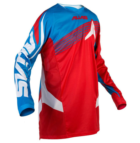 Motocross Jersey Clearance XXL 2016 Alias A1 Platinum MX Motocross Jersey - Red / Cyan
