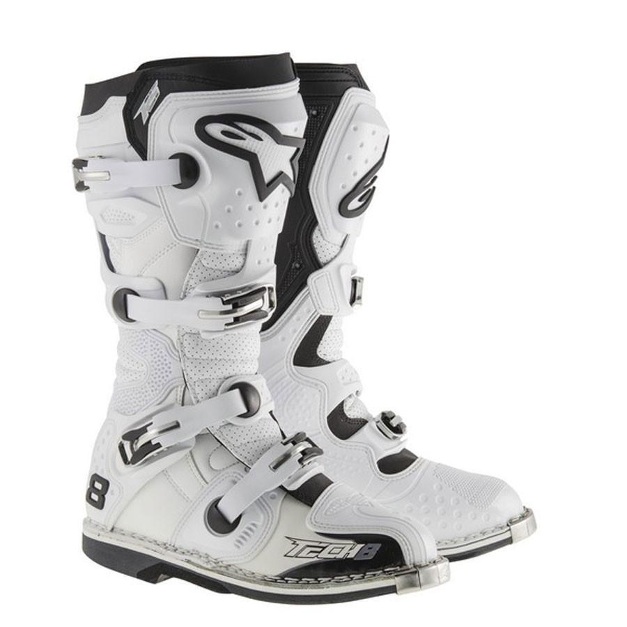 Motocross Kit,2015 Motocross Gear,2017 Motocross Gear 12 (48) Alpinestars NEW Tech 8 RS MX Motocross Boots - White Vent