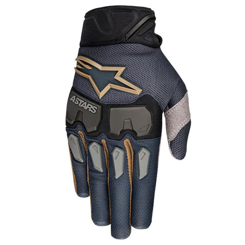 Motocross Kit 2018 Alpinestars Racefend LE Aviator MX Motocross Gloves - Navy / Black / Gold