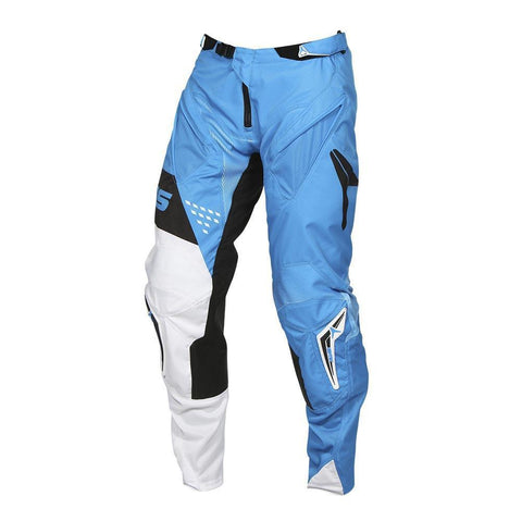 "Motocross Pants Clearance 34"" 2017 Alias A1 Standard MX Motocross Pants - Neon Blue / White 34"""