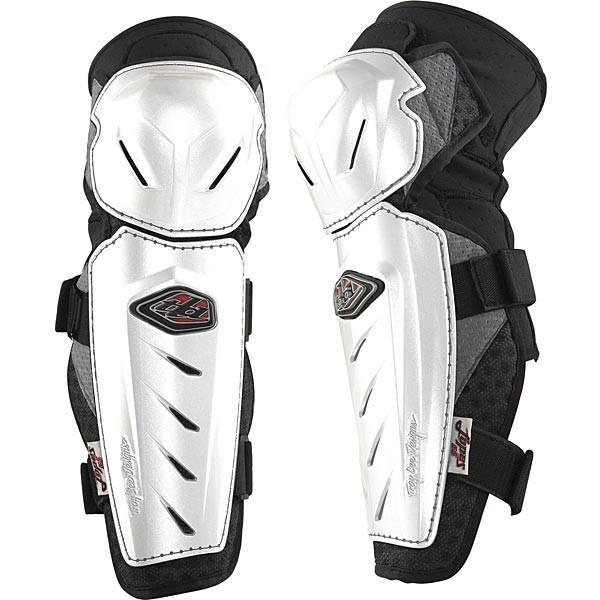 Motocross Protection XS/S Troy Lee Lopes Knee Guards - White