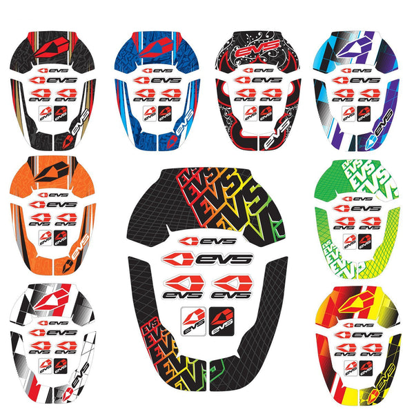 Motocross Rider Decals EVS Youth R4 Neck Protector Decals - Crossfade Purple
