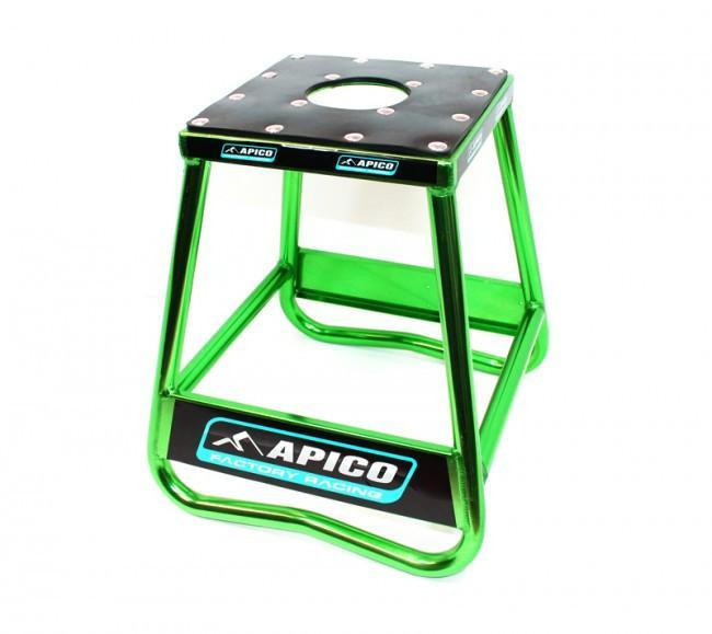 Motocross Stands Apico Factory Racing Motocross Pro Aluminium Stand - Green