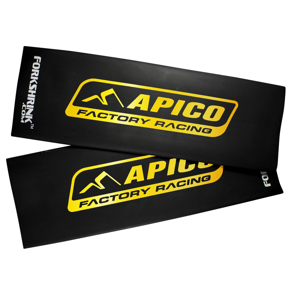 Motocross Upper Fork Graphics Apico Fork Shrink Gaiters Fork Protection 125-540 All Models - Black / Gold