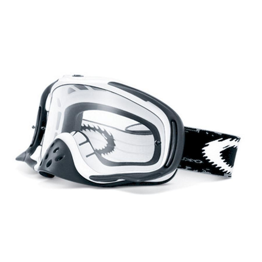Oakley Goggles Oakley Crowbar Motocross Goggles - Matte White Speed - Dual Lens