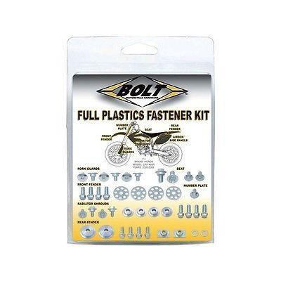 Plastic Kit Body Bolt Kits Bolt Hardware Full Plastic Fastener Kit Kawasaki KX250F 2017, KX450F 16-17