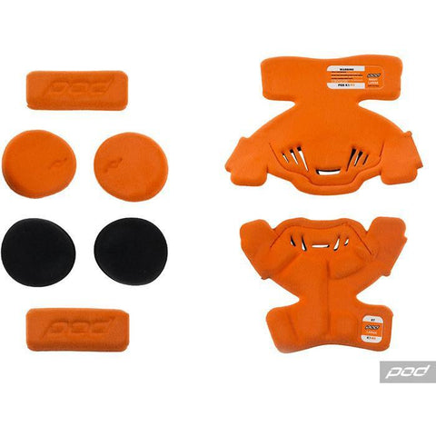 POD Knee Brace Spares Pod K1 YTH MX Pad Set Large (LT) - Orange