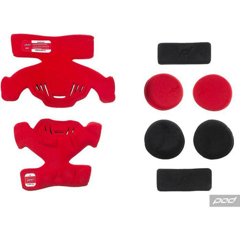 POD Knee Brace Spares Pod K700 MX Pad Set (LT) - Red
