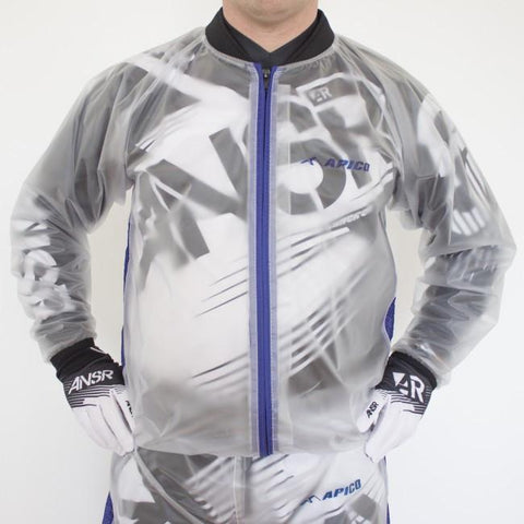 Rain Gear Apico Clear Rain Jacket Small Clear/Blue