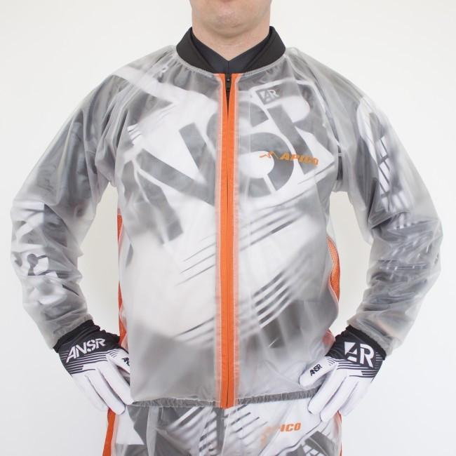 Rain Gear Apico Clear Rain Jacket Small Clear/Orange